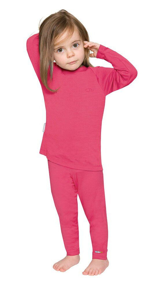 Термофутболка детская Icebreaker Kids' Merino 200 Oasis Long Sleeve Crewe Bloom 14 (IBO 188 C31 14)