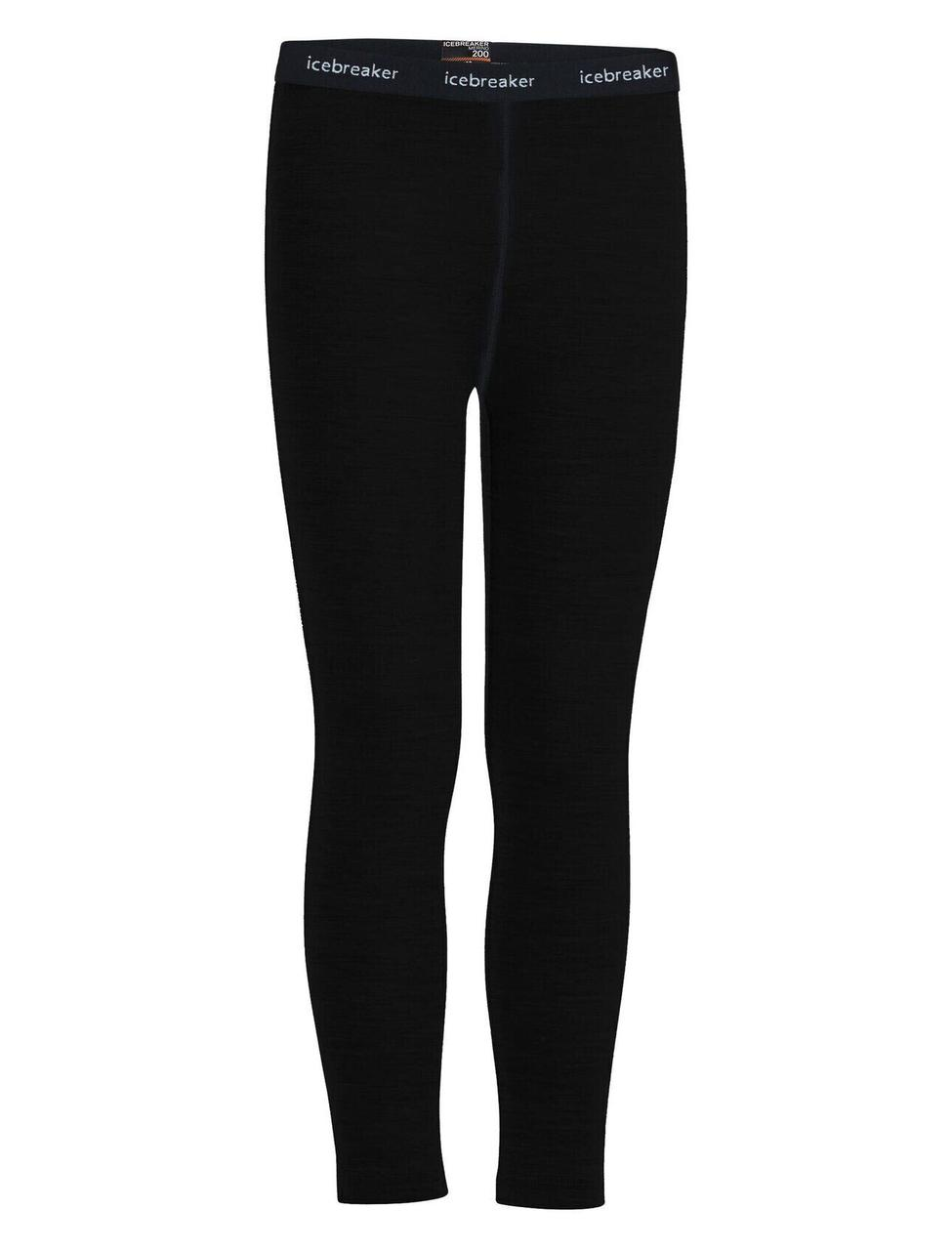 Термобрюки детские Icebreaker Kids' Merino 200 Oasis Thermal Leggings Black 10 (104 503 001 10)