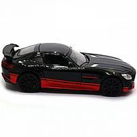 Машинка игровая автопром «Mercedes-AMG GT R», 14 см, свет, звук, двери открываются, черный (7846), фото 3