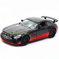 Машинка игровая автопром «Mercedes-AMG GT R», 14 см, свет, звук, двери открываются, черный (7846), фото 4
