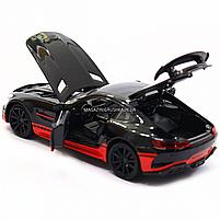 Машинка игровая автопром «Mercedes-AMG GT R», 14 см, свет, звук, двери открываются, черный (7846), фото 6