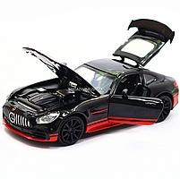 Машинка игровая автопром «Mercedes-AMG GT R», 14 см, свет, звук, двери открываются, черный (7846), фото 7