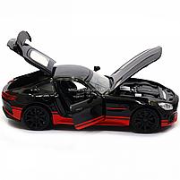 Машинка игровая автопром «Mercedes-AMG GT R», 14 см, свет, звук, двери открываются, черный (7846), фото 8