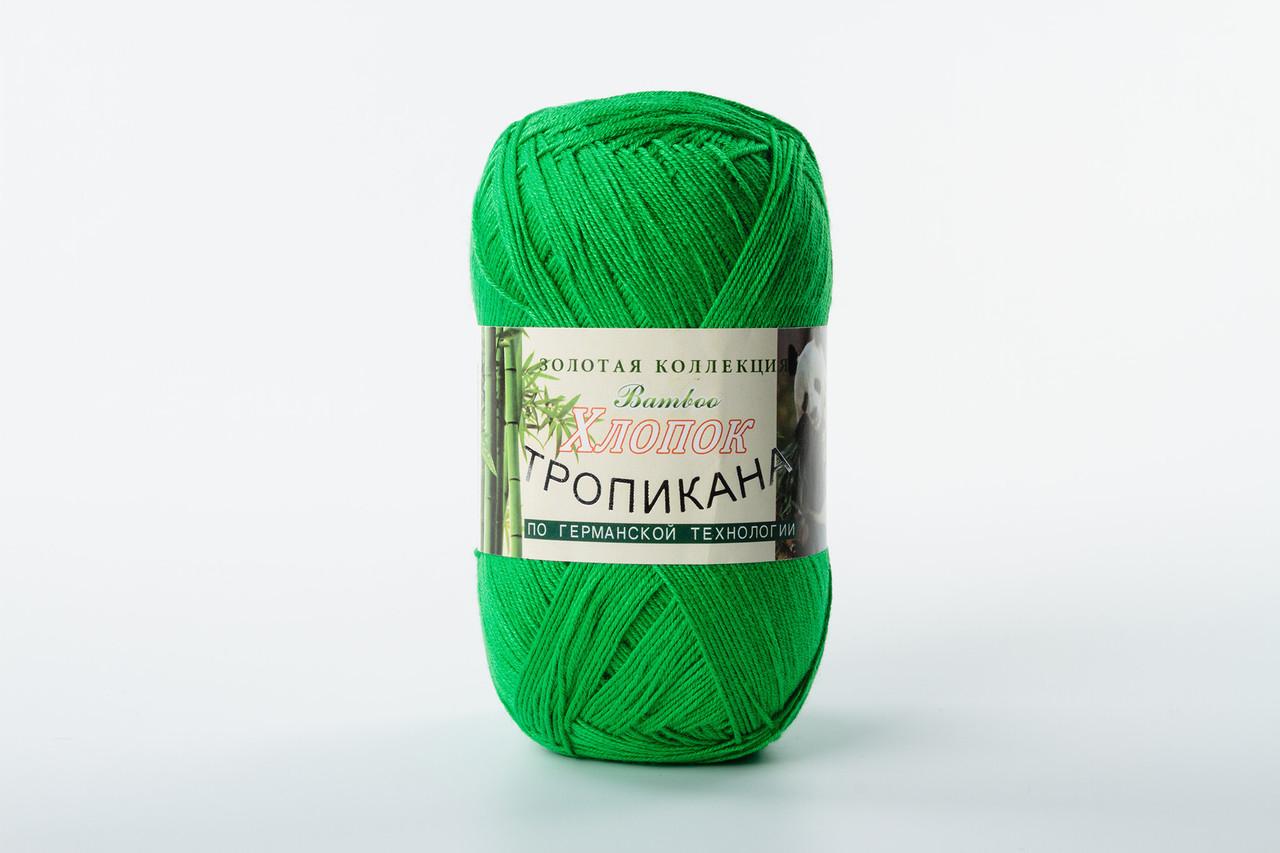 Пряжа Color City Тропикана 112 зеленый яркий