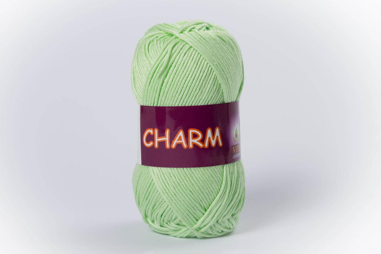 Пряжа хлопковая Vita Cotton Charm, Color No.4161 бледно-зелёный