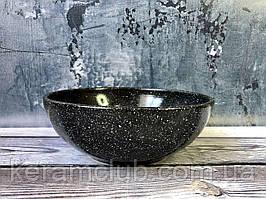 Пиала Керамклуб с гранитным покрытием V 700 мл черного цвета