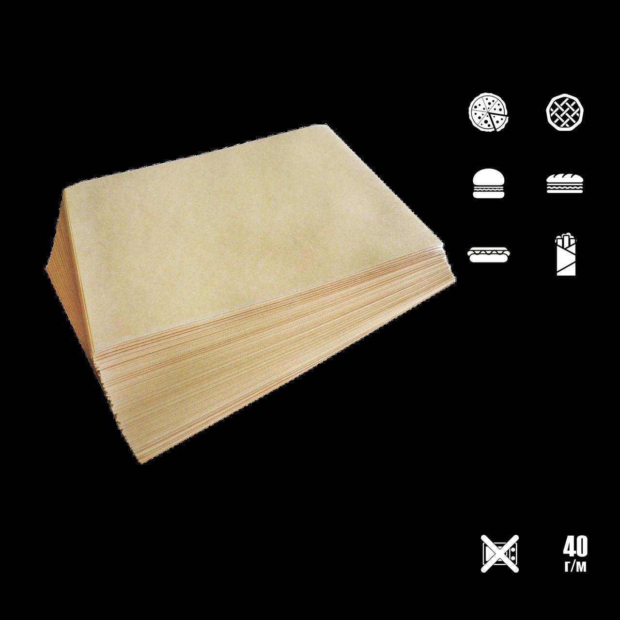 Упаковочная бумага  Крафт с ламинацией 320*320мм 40г/м² 1000шт (1722)