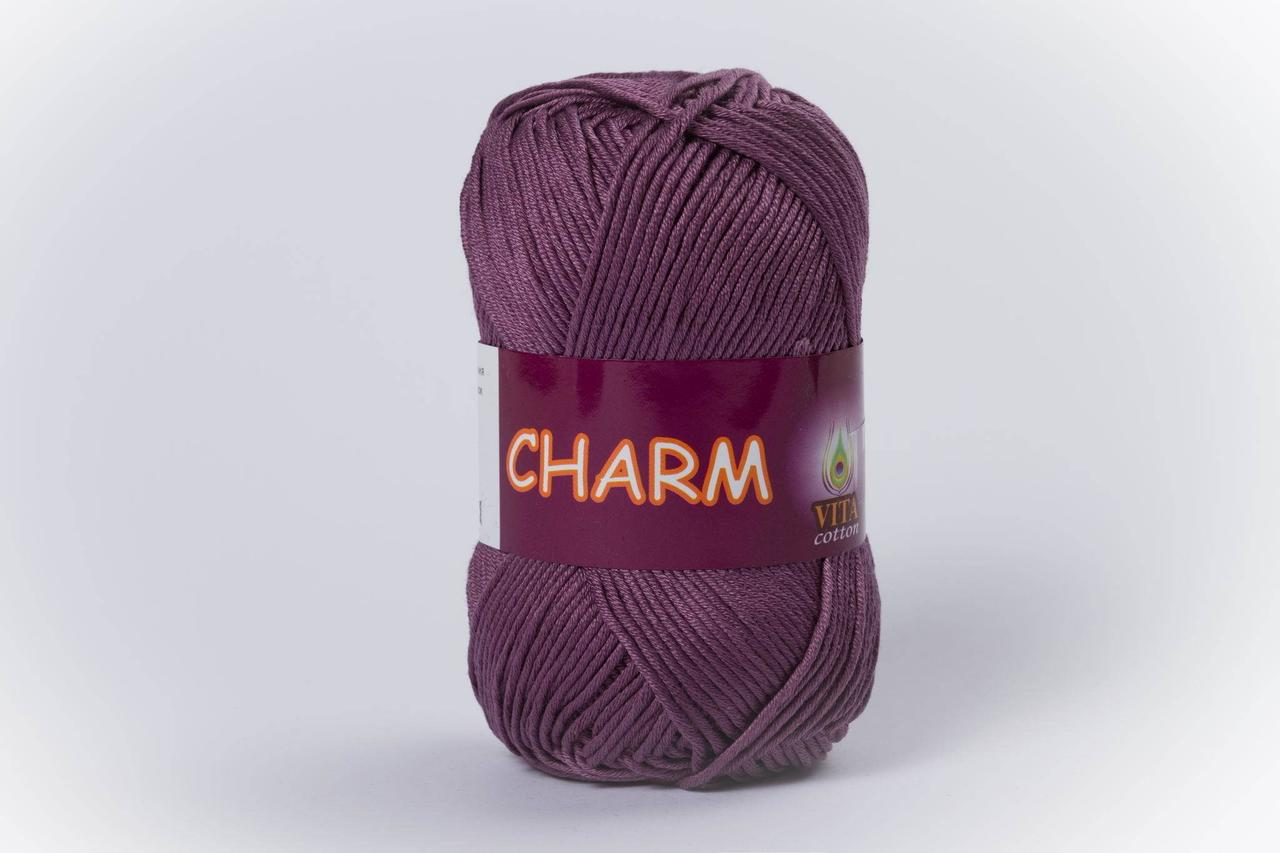 Пряжа бавовняна Vita Cotton Charm, Color No.4195 пильна бузок