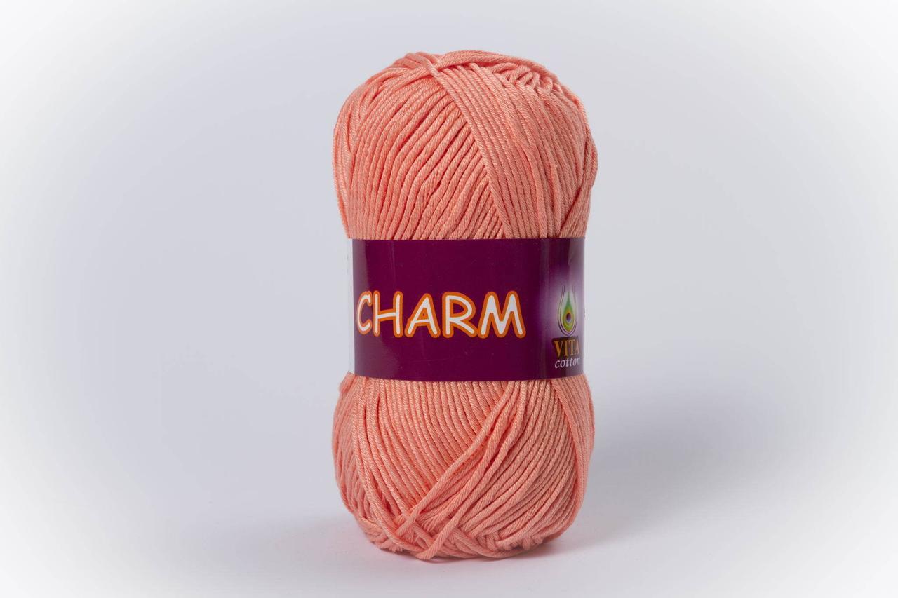 Пряжа хлопковая Vita Cotton Charm, Color No.4197 светлый персик