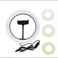 Кольцевая Led лампа селфи-кольцо для съемки (20 см) LED filling lamp