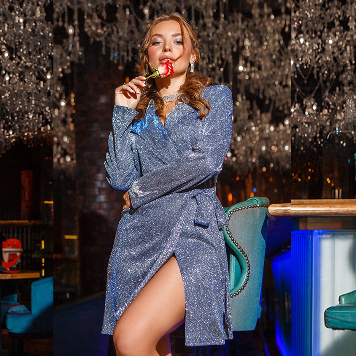 """Платье-пиджак люрексовое короткое коктейльное """"SHARM"""""""