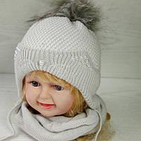 Комплект для девочки (шапка+хомут) Ambra O26 Размер 46-48 см Возраст 1-2 года, фото 2