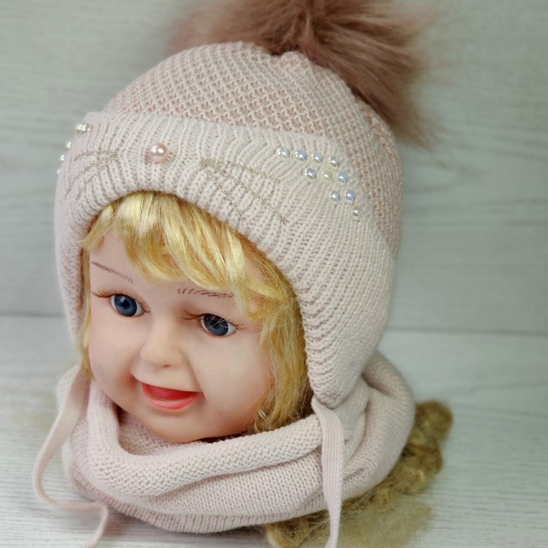 Комплект для девочки (шапка+хомут) Ambra O26 Размер 46-48 см Возраст 1-2 года