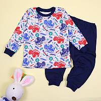 Пижама для мальчика интерлок серая с синим тм Katty размер 56,64