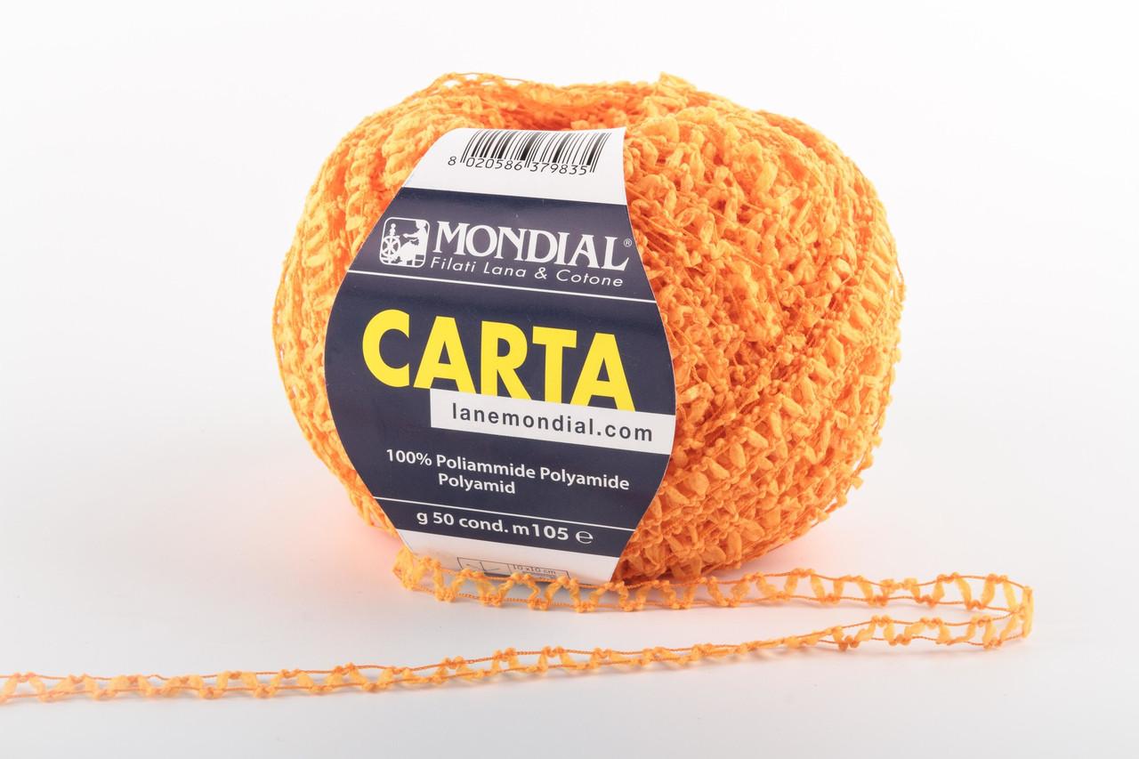 Пряжа Mondial Carta 943 оранжевый