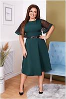 Женское элегантное офисное платье большого размера, фото 1