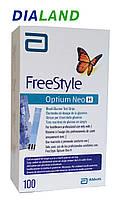 Тест-полоски ФриСтайл Оптиум Нео Н (FreeStyle Optium Neo H) 100 штук