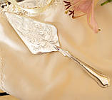 Красива посріблена лопатка для торта або десертів, для сервірування десертного столу, мельхіор, Англія, фото 2