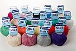 Пряжа Mondial Cable 8 0080 бледно-голубой, фото 2