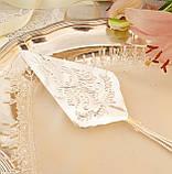 Красива посріблена лопатка для торта або десертів, для сервірування десертного столу, мельхіор, Англія, фото 7