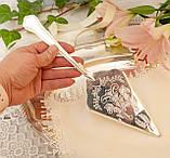 Красива посріблена лопатка для торта або десертів, для сервірування десертного столу, мельхіор, Англія, фото 10