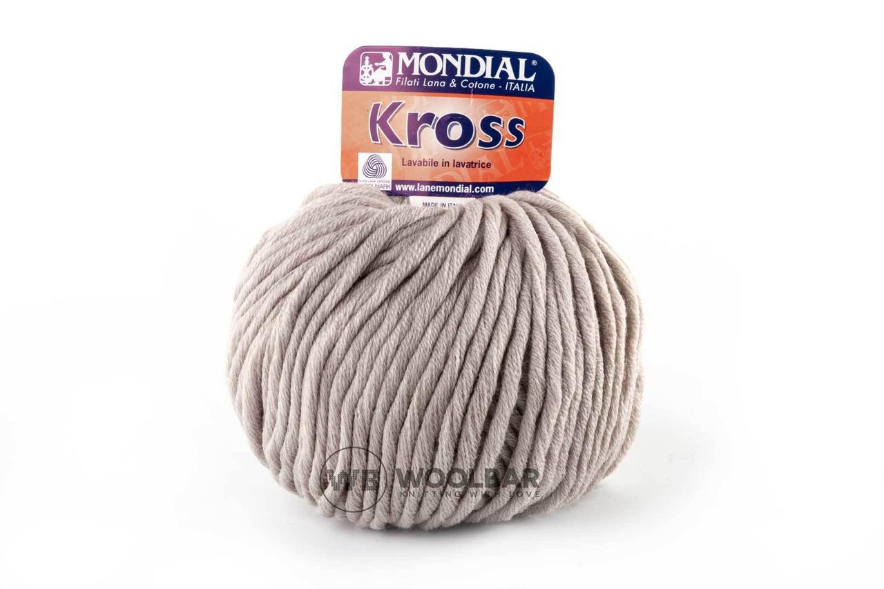 Пряжа Mondial Kross 300 серо-бежевый