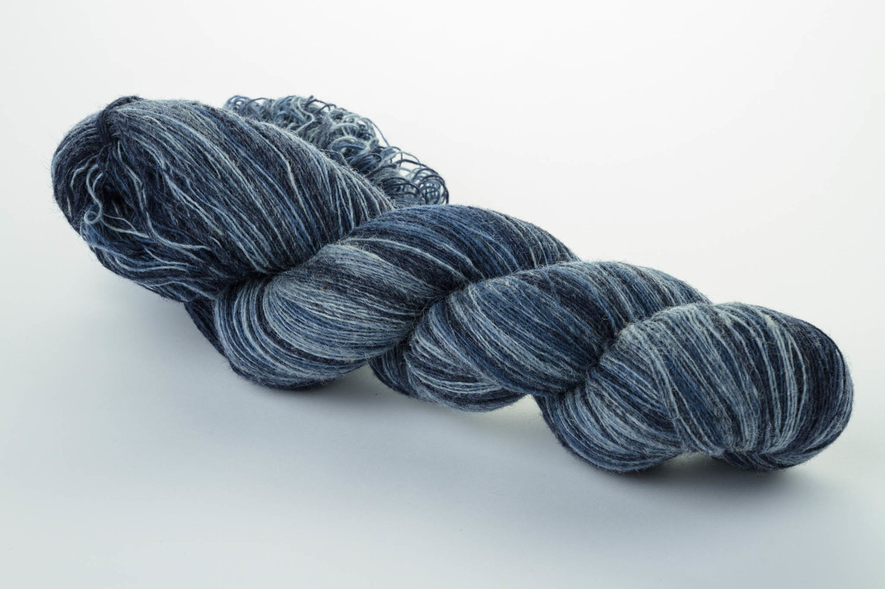 Пряжа Aade Long Kauni, Artistic yarn 8/1 Blue River (Синяя Речка), 152 г