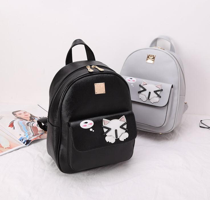 Городской рюкзак с аниме котиком