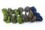 Пряжа Aade Long Kauni, Artistic yarn 8/1 Green Yellow (Зелено-желтый), 142 г, фото 3