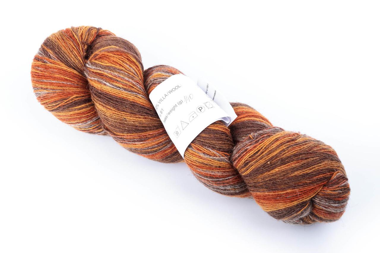 Пряжа Aade Long Kauni, Artistic yarn 8/1 Grey Orange (Серо-оранжевый), 142 г