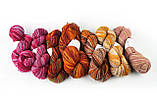 Пряжа Aade Long Kauni, Artistic yarn 8/1 Grey-Red (Серо-Красный), 156 г, фото 4