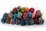 Пряжа Aade Long Kauni, Artistic yarn 8/1 Grey-Red (Серо-Красный), 170 г, фото 2