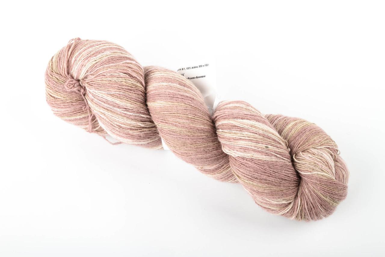 Пряжа Aade Long Kauni, Artistic yarn 8/1 Pink Beige (Розовый беж), 82 г