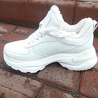 Женские зимние кроссовки из натуральной кожи. Жіночі зимові кросівки., фото 1