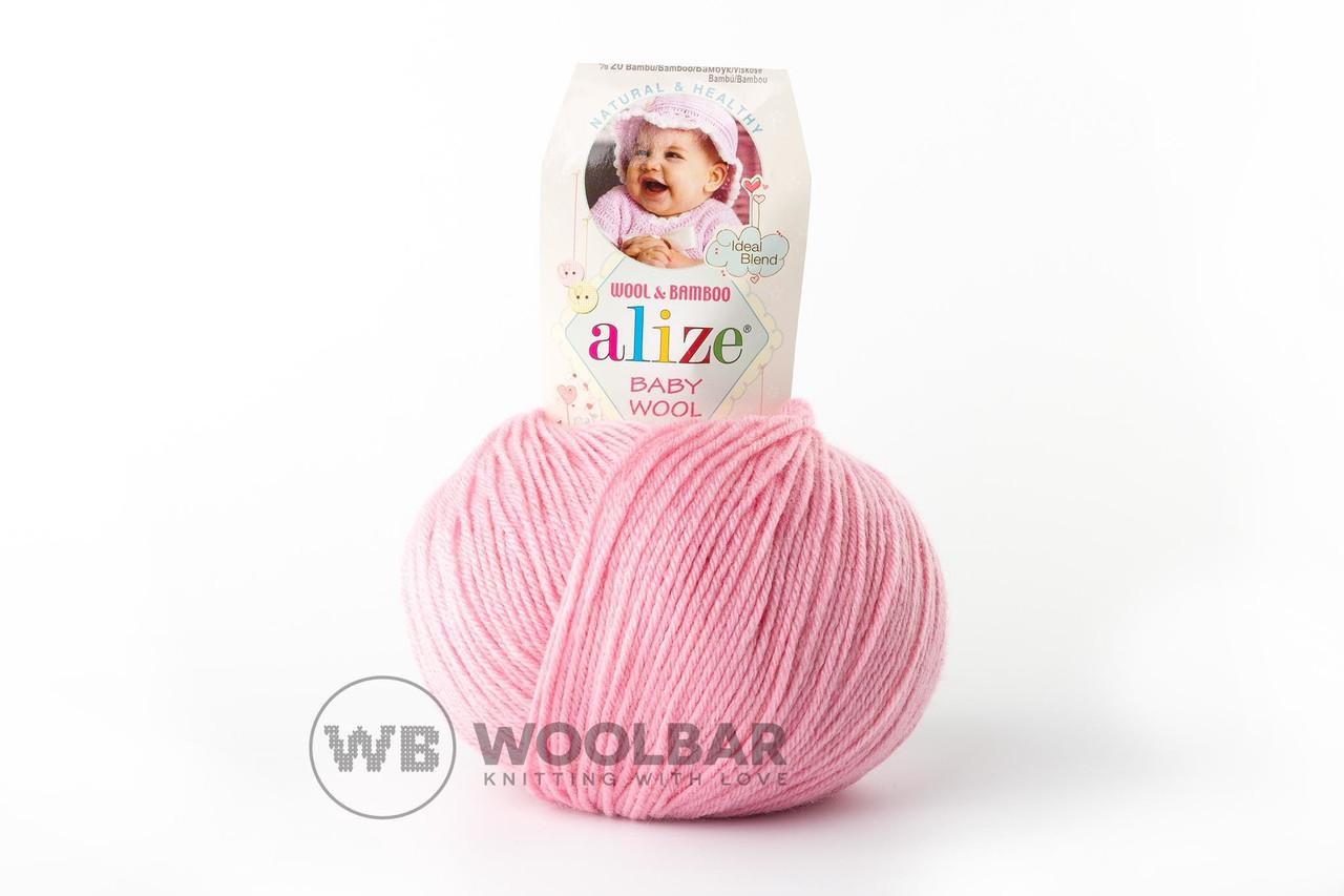 Пряжа Alize Baby Wool 194 розовый