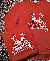 Парные новогодние свитшоты для влюбленных MERRY CHRISTMAS
