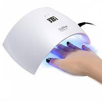 УФ Лампа UV LED SUN 9s 24W для ногтей маникюра и педикюра, гель-лака (White)