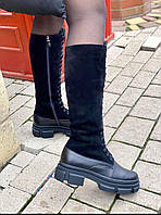 Зимние женские сапожки из натуральной кожи. Жіночі зимові черевички