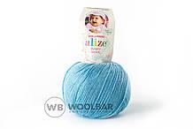 Пряжа Alize Baby Wool 128 морская вода