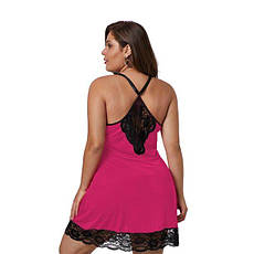 Сорочка большого размера JSY 6XL/7XL розовая, фото 2