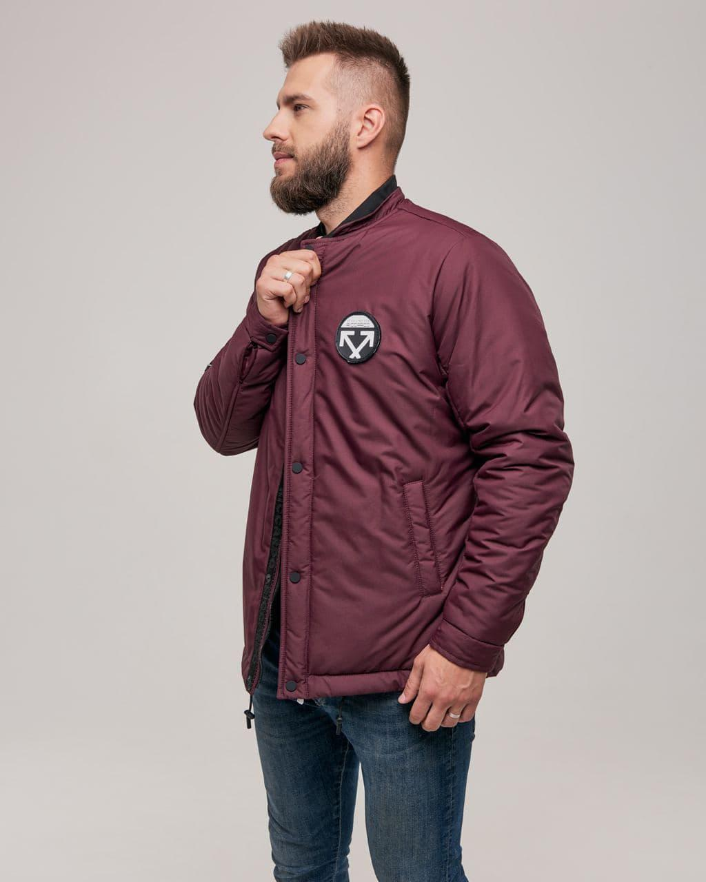 Стильная мужская зимняя куртка. Цвет бордо. Размер 46(S), 48(M), 50(L), 52(XL), 54(XXL)