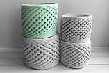 Пряжа трикотажна Bobilon 7-9 мм (medium) 2 пломбір, фото 3