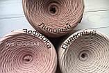 Пряжа трикотажна Bobilon 7-9 мм (medium) 2 пломбір, фото 4