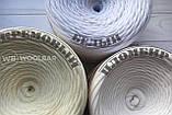 Пряжа трикотажна Bobilon 7-9 мм (medium) 2 пломбір, фото 6
