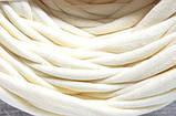 Пряжа трикотажна Bobilon 7-9 мм (medium) 2 пломбір, фото 9