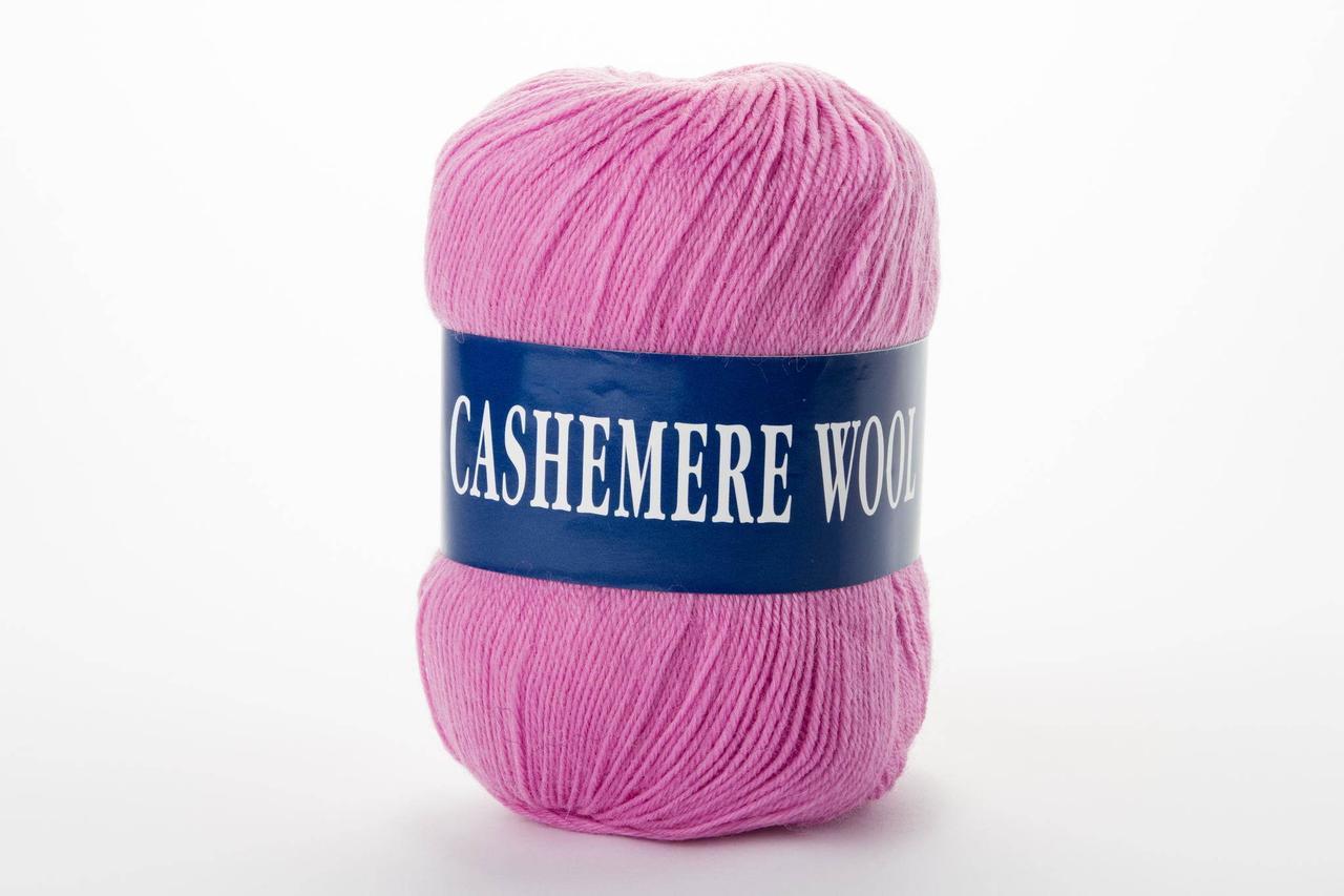 Пряжа Lana Cashemere wool 1005 розово-сиреневый