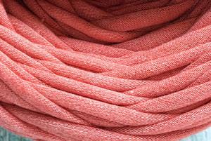 Пряжа трикотажна Bobilon 7-9 мм (medium) 20 рожевий меланж