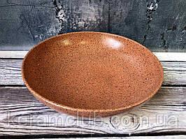 Миска для вареников Керамклуб с гранитным покрытием V 1,4 л оранжевого цвета