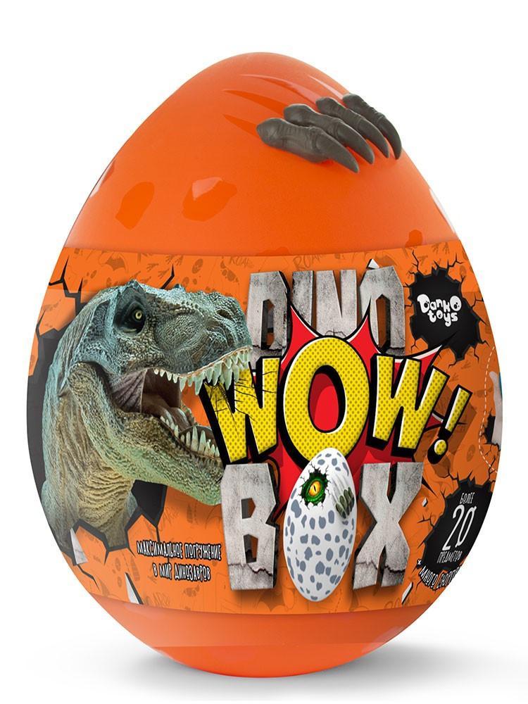 Игра - подарок - набор для творчества - большое яйцо с динозаврами 35 см Dino WOW Box DWB-01-01