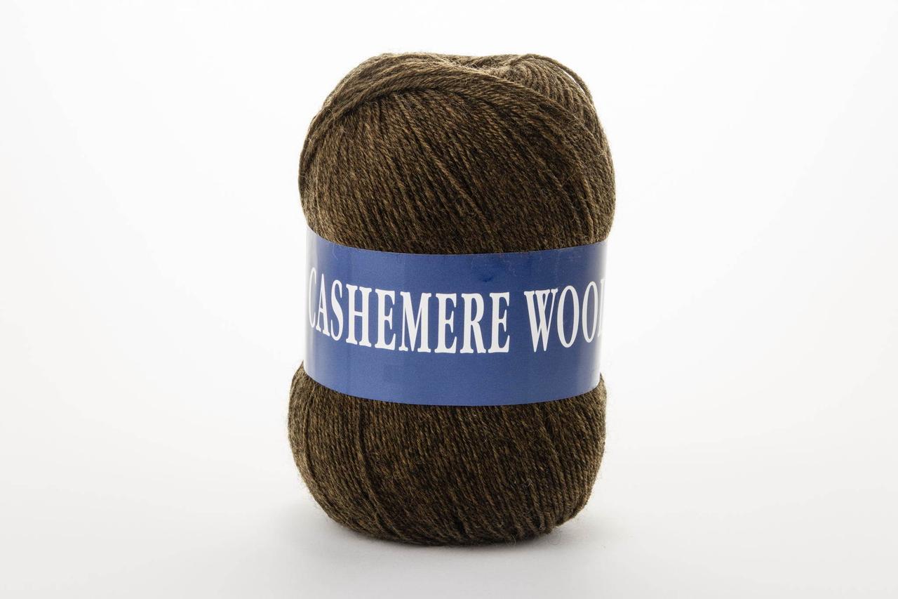 Пряжа Lana Cashemere wool 1016 коричневый